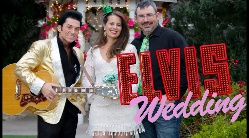 St Patricks Day Wedding With Elvis At Cupid's Wedding Chapel Las Vegas
